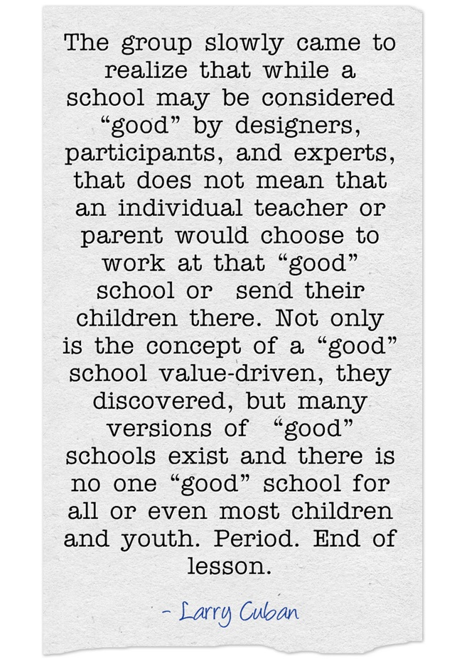 "Quote Of The Day: What Is A ""Good"" School?"