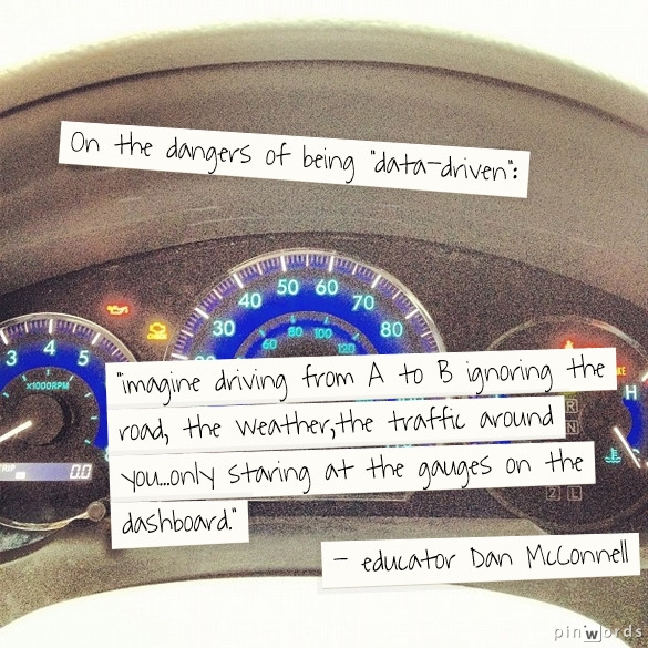 On the danger of being data-driven