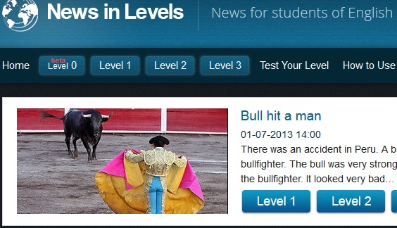 """News In Levels"""" Looks Like An Excellent Site For ELLs 
