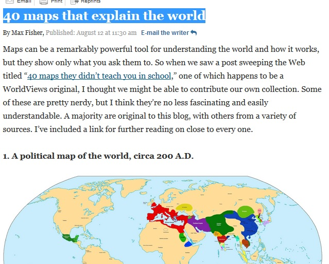 """This May Be The Best Geography Site Of The Year: """"40 maps that ..."""