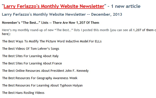 Just Sent-Out Free Email Newsletter