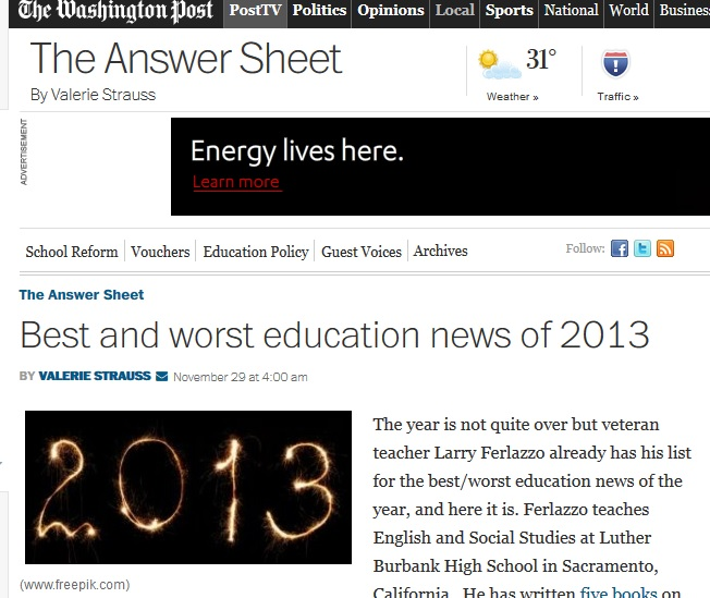 The Best And Worst Education News In >> Best And Worst Education News Of 2013 Larry Ferlazzo S Websites