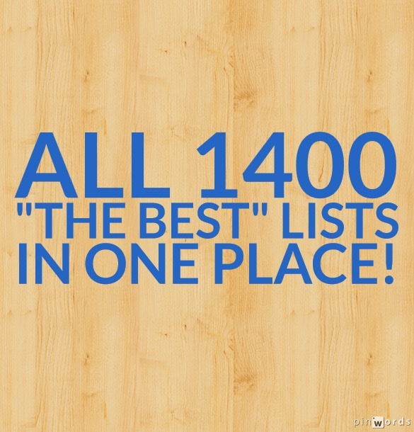 "All My ""The Best"" Lists"