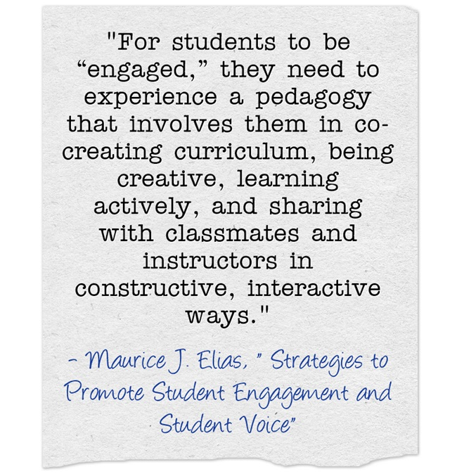 """Guest Post: """"Strategies to Promote Student Engagement and Student Voice"""""""