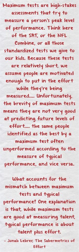 Maximum-tests-are