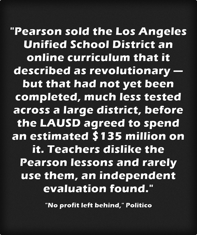No Profit Left Behind >> Statistic Of The Day Pearson No Profit Left Behind Larry