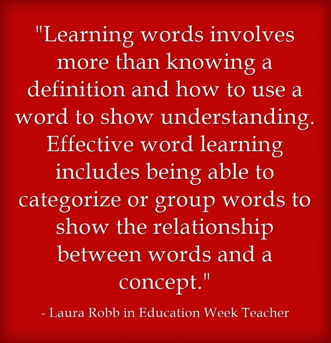 Learning-words-involves
