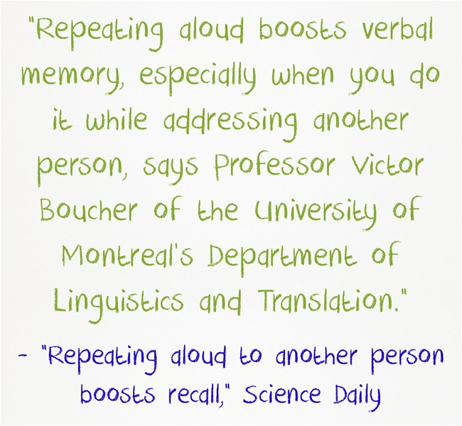 Repeating-aloud-boosts