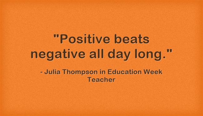 Positive-beats-negative