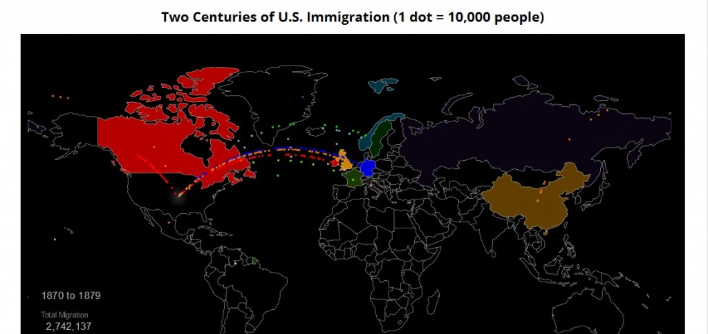 Nice Interactive Tracking U.S. Immigration Over Last 200 Years ...