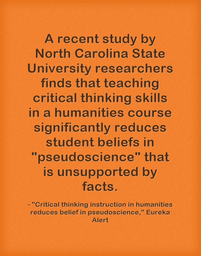 Teaching Critical Thinking In History Reduces Belief In Pseudoscience