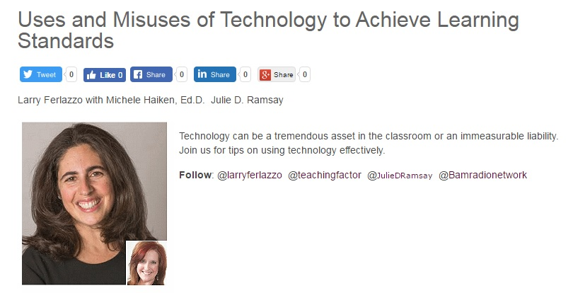 Using Tech To Achieve Common Core Standards Is My Latest BAM! Radio Topic