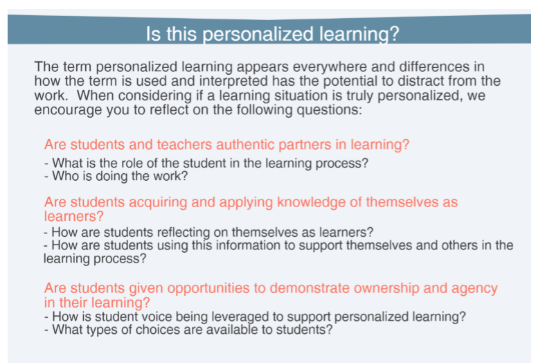 Guest Post: How One District Supports Personalized Learning