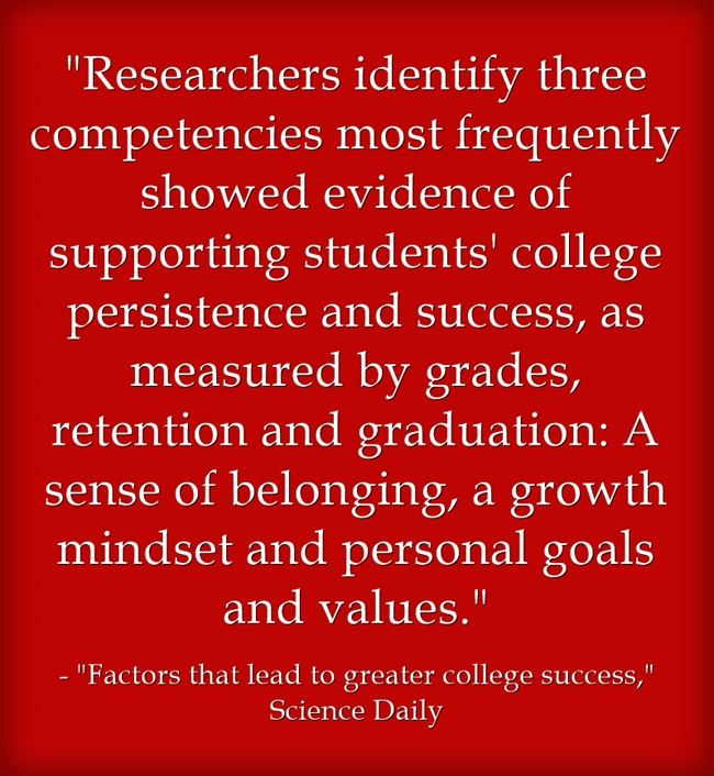 New National Academies Of Science Report Identifies Three Qualities Key To Student Success