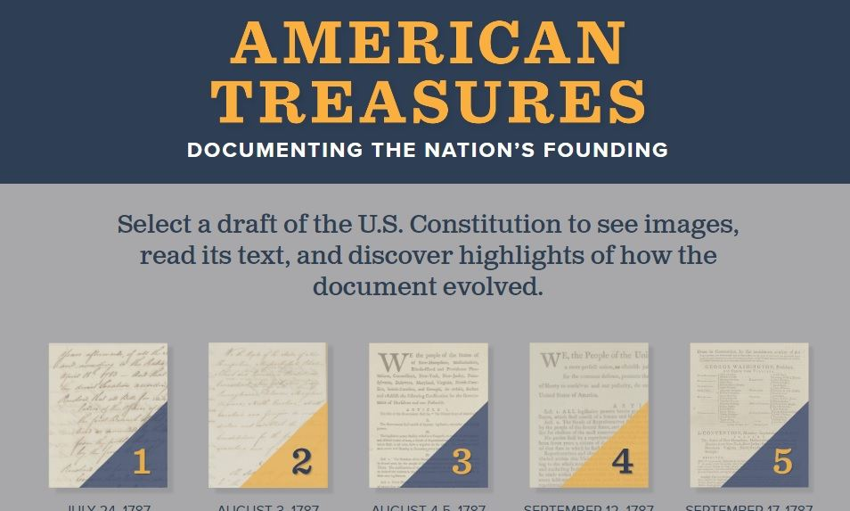 """""""American Treasures"""" Is New Interactive About U.S. Constitution"""