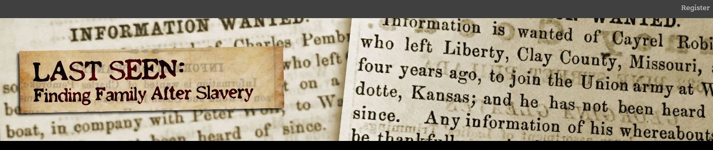 Students & Teachers Can Transcribe Ads From Former Slaves Looking For Their Families