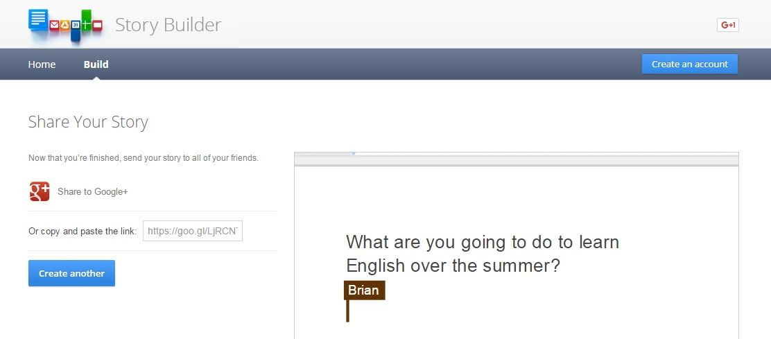 """Using """"Google Story Builder"""" To Encourage Students To Study English Over The Summer"""