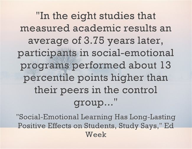 Impact Of Social Emotional Learning On >> Study Finds That Social Emotional Learning Has Long Lasting