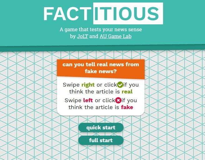 """""""Factitious"""" Is An Online Game To Teach About Fake News"""