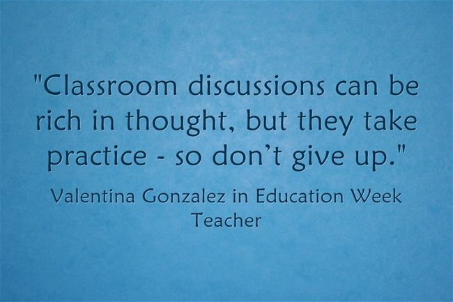 """""""Effective Classroom Discussions Don't Happen 'Magically'"""""""