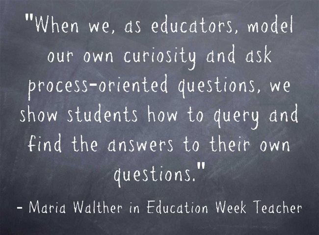 """""""Students can 'own Their Learning Through Creating Questions'"""""""