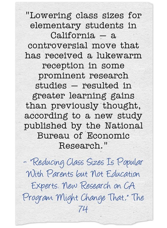 Statistic Of The Day: To The Surprise Of No Teacher, New Study Finds That Class Size Matters