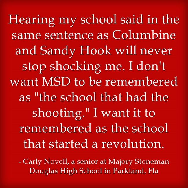 Quote Of The Day Shooting Survivor Wants Her School To Be