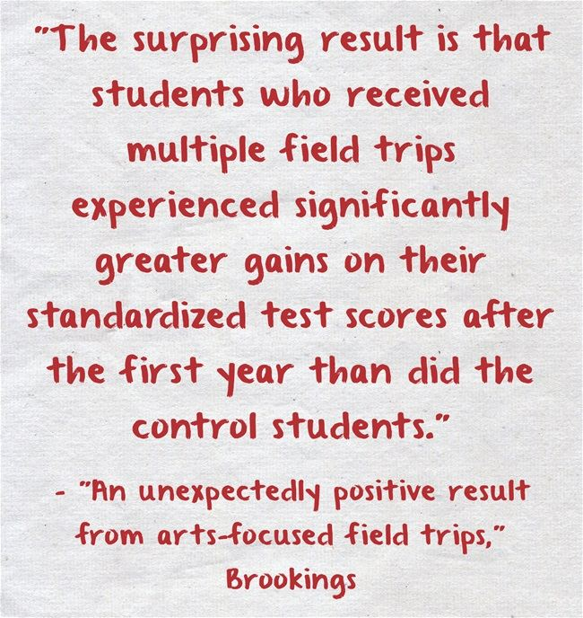 Statistic Of The Day: Field Trips Are Good