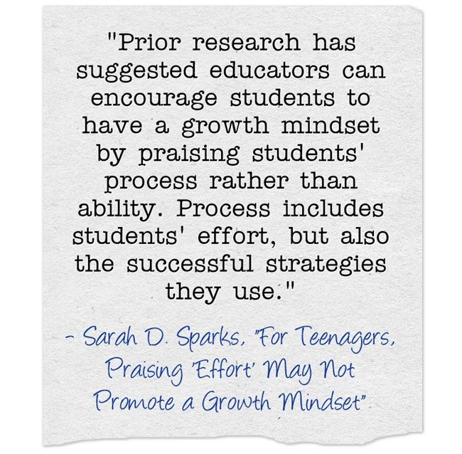 """A Look Back: """"Important Reminder That We Need To Praise Process To Support A Growth Mindset"""""""