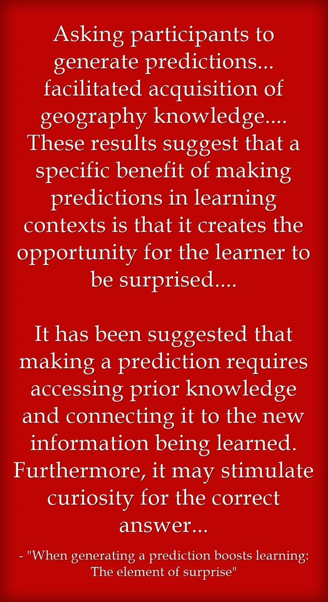 New Study Finds Having Students Make Predictions Enhances Learning
