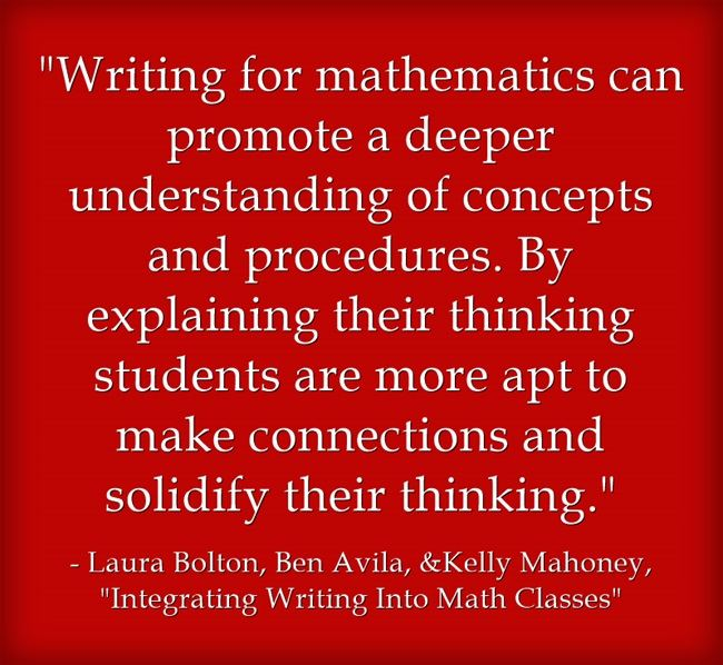 Guest Post: Integrating Writing Into Math Classes