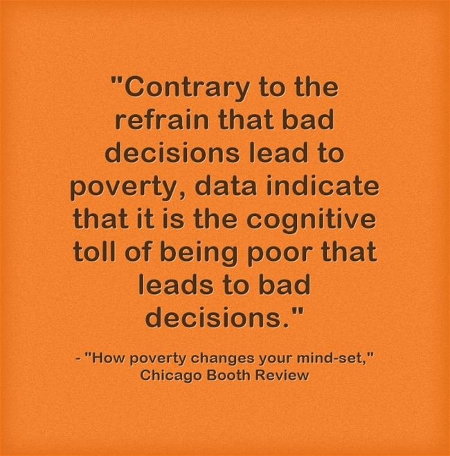 """Another Study Finds Poverty's Impact On """"Cognitive Bandwidth"""""""
