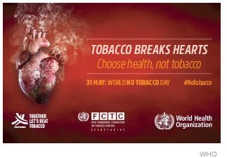 "May 31st Is ""World No Tobacco Day"" – Here Are Related Resources"