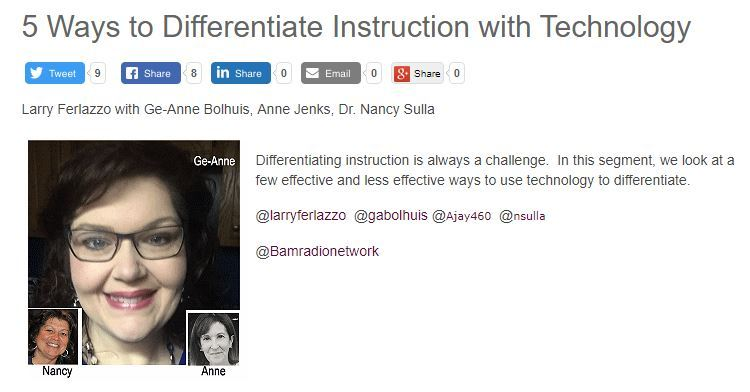 My Latest Bam Radio Show Is On Using Tech To Differentiate
