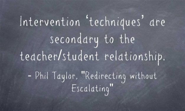 """A Look Back: """"Guest Post: Classroom Management – Redirecting without Escalating"""""""