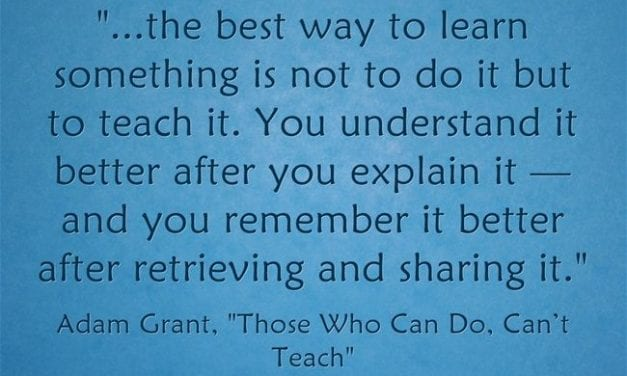 """Great Rebuke To """"Those Who Can, Do; Those Who Can't, Teach"""""""