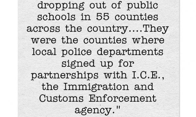 Statistic Of The Day: Families Flee Counties Where Police Cooperate With ICE