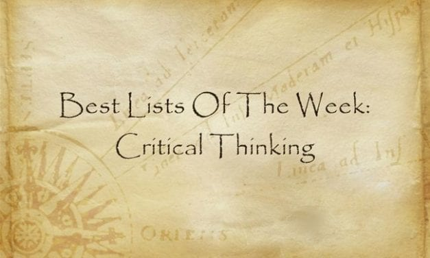 Best Lists Of The Week: Critical Thinking
