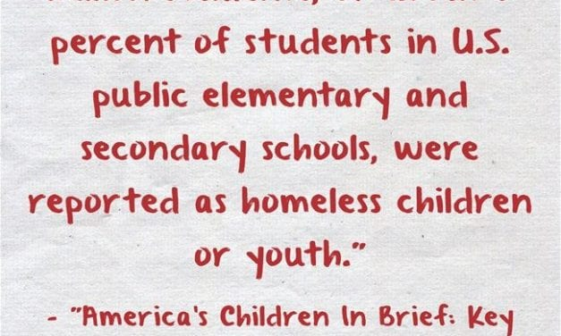 Statistic Of The Day: 1.4 Million Students Are Homeless In The U.S.