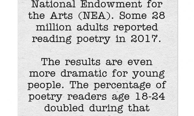 Uplifting Statistic Of The Day: Young People & Adults Reading A Lot More Poetry