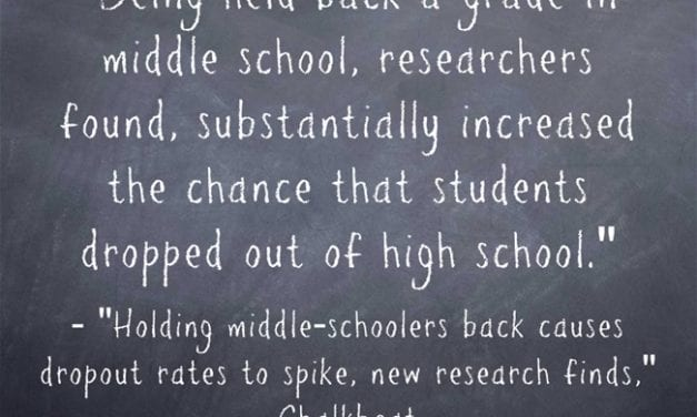 New Research Reinforces What We Knew: Being Held Back A Grade Doesn't Help Kids