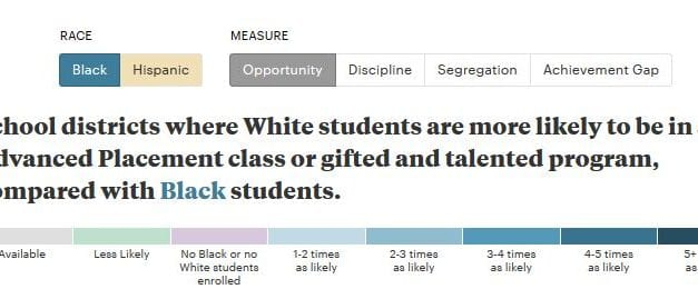 """Wow! Check Out ProPublica's """"Miseducation: Is There Racial Inequality at Your School?"""""""