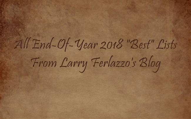 """All My End-Of-Year """"Best"""" Lists For 2018 In One Place!"""