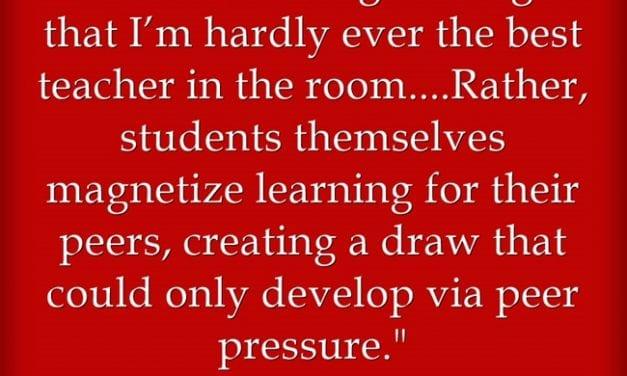 """""""The Value of 'Peer Teaching'"""""""