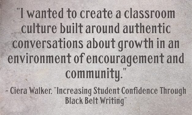 Guest Post: Increasing Student Confidence Through Black Belt Writing