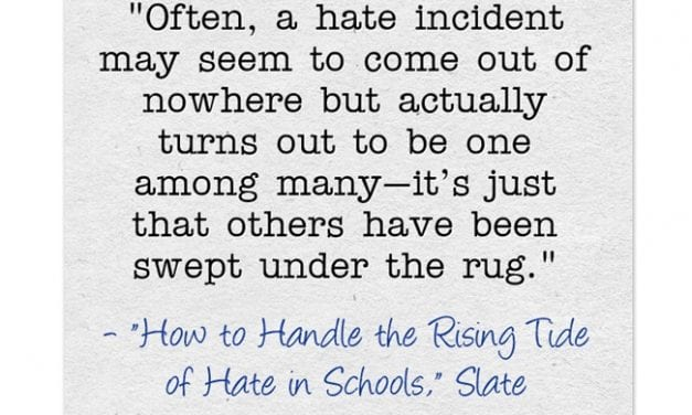 Thoughtful Response To Hate In Schools