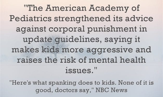 New Report Says Corporal Punishment Doesn't Work