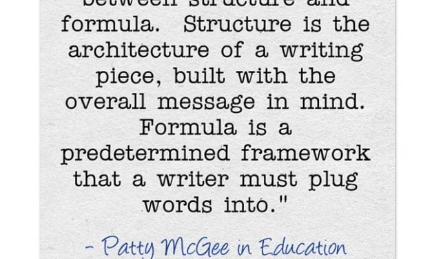 'Writing Frames Are the Recipes of Writing'