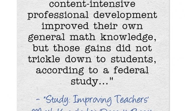 """A Look Back: How Much """"Content"""" Knowledge Do You Really Need To Be An Effective Teacher?"""