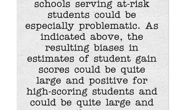 """A Look Back: New Study Finds VAM Is Biased Against Teachers Of """"At Risk"""" Students"""